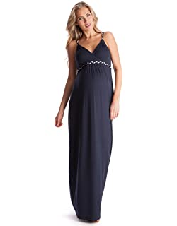 3c99557c1636 Seraphine Women s Pink Fuchsia Knot Front Maternity Dress at Amazon ...