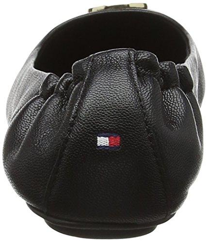 Leather black Hilfiger Tommy Femme 990 Ballerines Flexible Ballerina Noir qtU7wOa