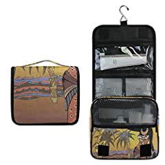 """【Product information】 ■Weight: 0.17kg/ 0.37LB ■Size: 9"""" x 4"""" x 18.5""""(unfold) / 9"""" x 4"""" x 9.2""""(fold) ■Material: Waterproof Durable Polyester 【Convenient Compartments】 ■The toiletry kit features multiple compartments in various sizes to accomm..."""