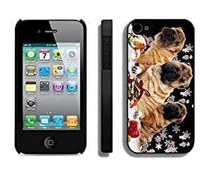 Popular Design Christmas Snowflake Dogs Black PC Samsung Note 2s,Apple Samsung Note 2 Case