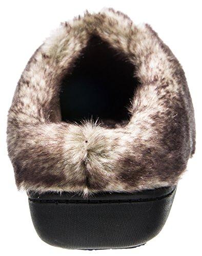 Pantofole Isotoner Da Donna Con Microsuede Ada E Cappuccio Viola Maestoso