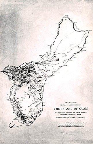 Island of Guam Map Guam ()