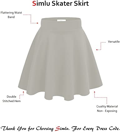 YogaColors Stretch Mini A-Line Skater Skirt