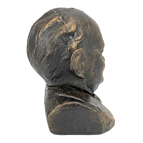 Design Toscano Sir Winston Churchill 1874-1965 Foundry Cast Iron Sculptural Bust, Bronze