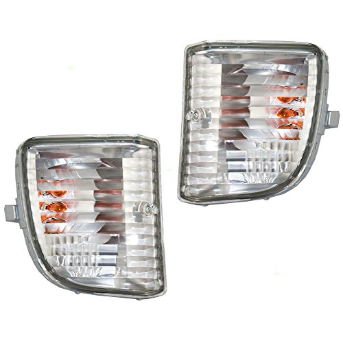 Driver and Passenger Park Signal Front Marker Lights Lamps Lenses Replacement for Toyota SUV 81521-42050 81511-42050 AutoAndArt