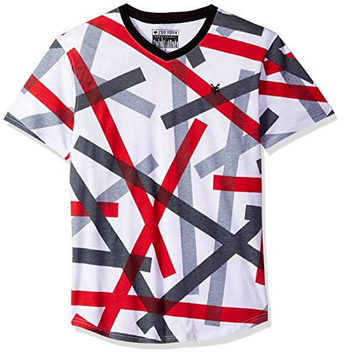 Men Zoo - Zoo York Men's Short Sleeve V-Neck Shirt, Reflection fire red Large
