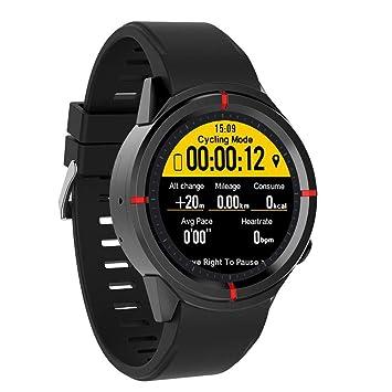 JJSSGGJJSSHH Brazalete Deportivo Reloj GPS Funcionamiento Deportivo Smartwatch Soporte de monitoreo de Ritmo cardíaco SIM Bluetooth