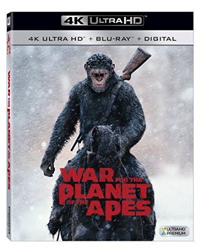 4K Blu-ray : War for the Planet of the Apes (With Blu-Ray, 4K Mastering, Digitally Mastered in HD, Widescreen, )