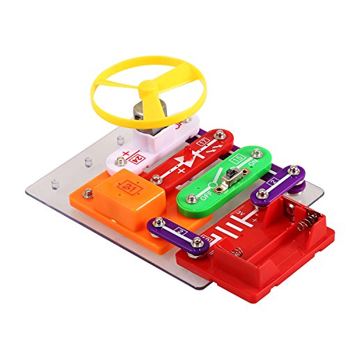 Arshiner W-58 Electronics Kit DIY Music Doorbell Flying Saucer Light Science Educational Toy