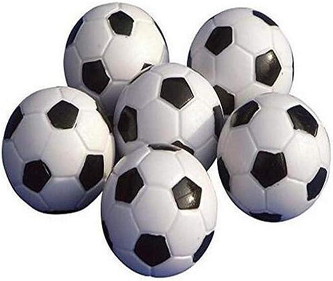 Upper Balones de futbolín de, minipelotas de Repuesto, de plástico, Blancas y Negras: Amazon.es: Deportes y aire libre