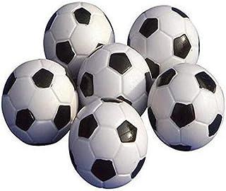 Upper Balones de futbolín de, minipelotas de Repuesto, de plástico, Blancas y Negras de plástico