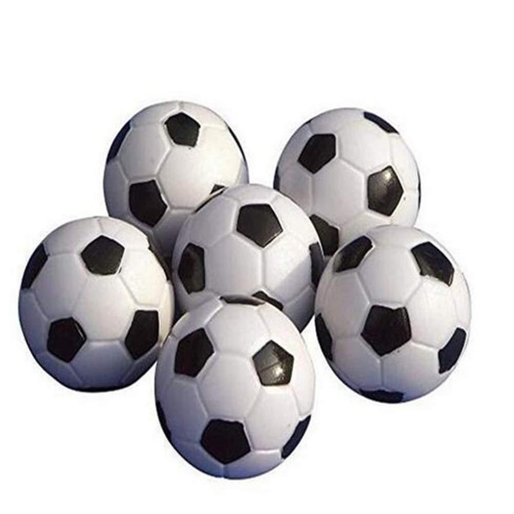 Ndier Mesa Soccer Foosballs Reemplazo Mini plástico Blanco y Negro ...