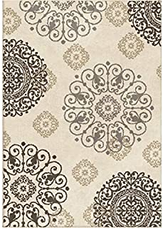 """product image for Orian Rugs Modern Grace Lennox Ivory Area Rug (5'3"""" x 7'6"""")"""