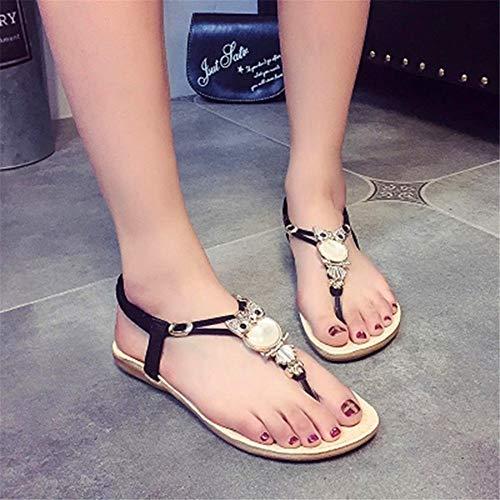 casual primavera studenti moda sandali coreana pigro del femminili ed ShangYiSandali blu versione pedale 2018 estate piatti nYOqC