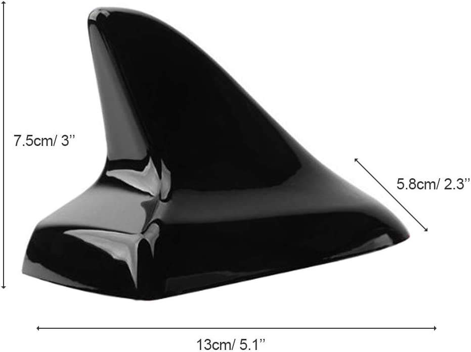 Black TraderPlus Universal Car Antenna Aerial Shark Fin AM//FM Radio Signal for Auto SUV Truck Van