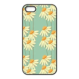Case For Ipod Touch 4 Cover Case, Print Daisy Case For Ipod Touch 4 Cover {Black}