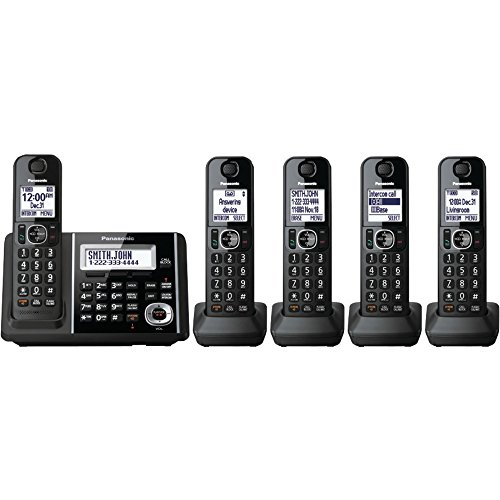 PANASONIC KX-TGF345B DECT 6.0 1.9 GHz Digital Cordless Phone (5 Handsets) electronic consumer