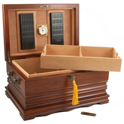 The Tradition 125 Cigar Solid Wood Antque Humidor