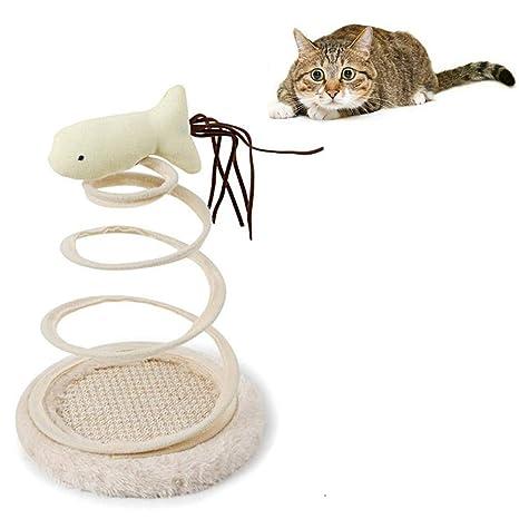 AOLVO Juguete para Gatos Caza de Ratones, Juguete Interactivo con Resorte en Espiral para Gatos