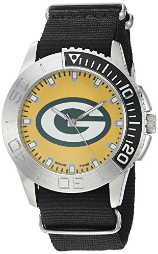 Game Time Executive Watch - Game Time Men's 'Starter'  Metal and Nylon Quartz Analog  Watch, Color:Black (Model: NFL-STA-GB)