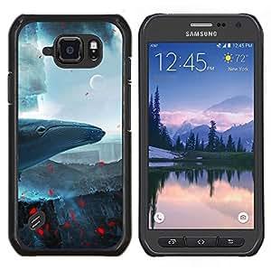 Stuss Case / Funda Carcasa protectora - Ballena Espacio - Samsung Galaxy S6Active Active G890A