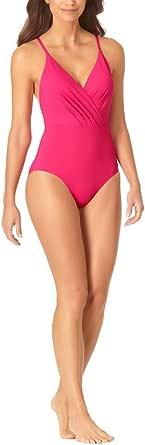 Anne Cole Women's Wrap Lingerie Maillot One Piece Swimsuit