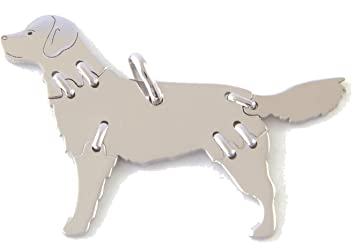 GOLDEN RETRIEVER Hunde Tier-Anhänger Medium 925 Sterling Silber Charm Schmuck 040CM