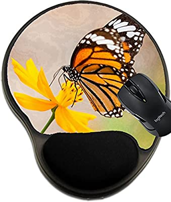 MSD Mousepad wrist protected Mouse Pads/Mat with wrist support design 20702169 Monarch Butterfly on a Flower
