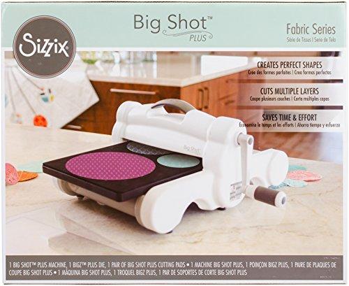 - Sizzix Big Shot Plus Fabric Series Starter Kit (White & Gray)