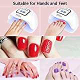 Gel LED UV Nail Lamp 80W 45 LED Nail Dryer UV Light for Gel Nail Polish with 4 Timer Setting, Automatic Senor for Gel Nails and Toe Nail Curing