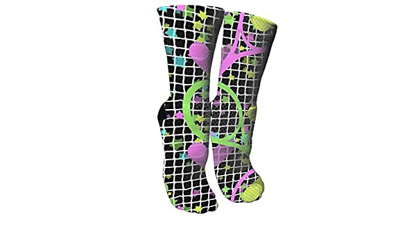 Amazon.com: Retro Dayglo Tennis Stars Compression Socks Compression Stockings for Woman Graduated Compression Sock Knee High: Sports & Outdoors