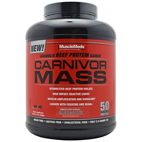 MuscleMeds Carnivor MASS Chocolate 5.7 lbs by MUSCLE MEDS
