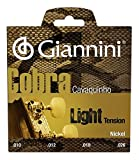 Giannini GESCL Cobra Series Brazilian Cavaquinho Light Gauge Nickel Round Wound Strings, .010-.026