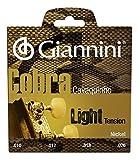 Giannini GESCL Cobra Series Brazilian Cavaquinho Light Gauge Nickel Round Wound Strings, .010-.026