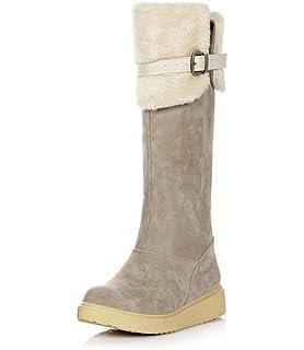 Amazon.com | Gaorui Women Winter Flat Thigh High Snow Boots Girl's ...