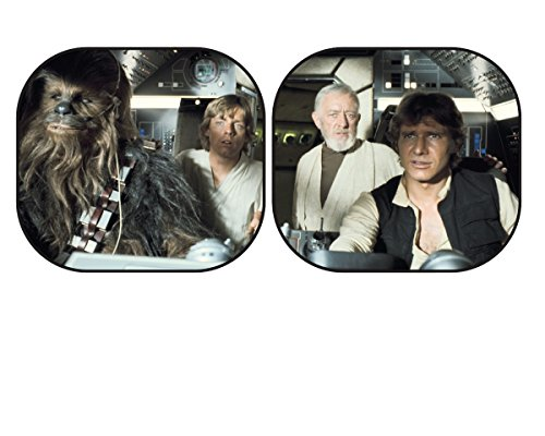 (Plasticolor 003747R01 Star Wars Millennium Falcon 2-Piece Magic Spring Window Sunshade)