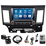 TLTek 8 inch Touch Screen Car GPS Navigation System For Mitsubishi Lancer 2008-2013 DVD Player+Backup Camera+North America Map