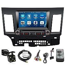TLTek 8 inch Touch Screen Car GPS Navigation System For Mitsubishi Lancer 2008-2013 DVD Player+Backup Camera+North America Map