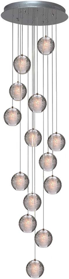 KJLARS Iluminación colgante LED Lámparas de araña ajustable en ...