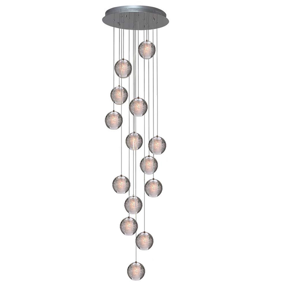 KJLARS Iluminaci/ón colgante LED L/ámparas de ara/ña ajustable en altura para la sala de estar mesa de comedor escalera dormitorio colgante de luz