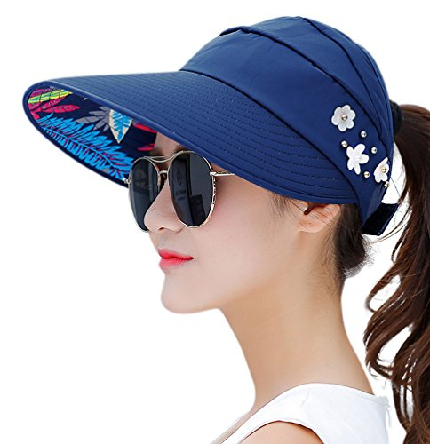 5390b04091a HindaWi Sun Hats for Women Sun Hat Wide Brim UV Protection Summer.