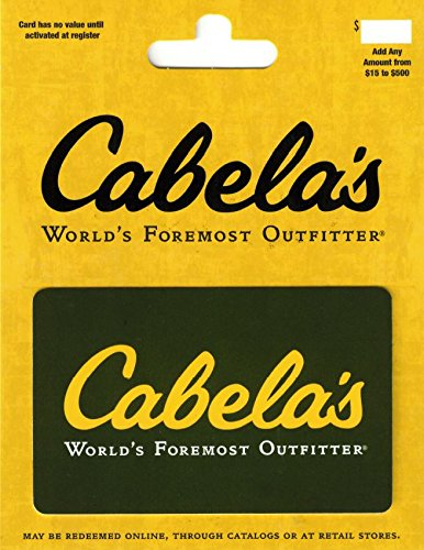 Amazon.com: Cabelas $25 Gift Card: Gift Cards
