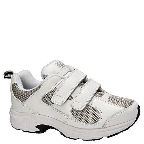 Drew Shoe Women's Flash II V Sneakers White Leather/ Grey Mesh free shipping finishline BLL9MAQfA