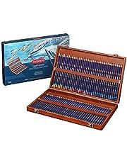 أقلام رصاص ملونة من ديروينت، أقلام حبر كثيرة، رسم وفني، صندوق خشبي، 72 قطعة (2301844)