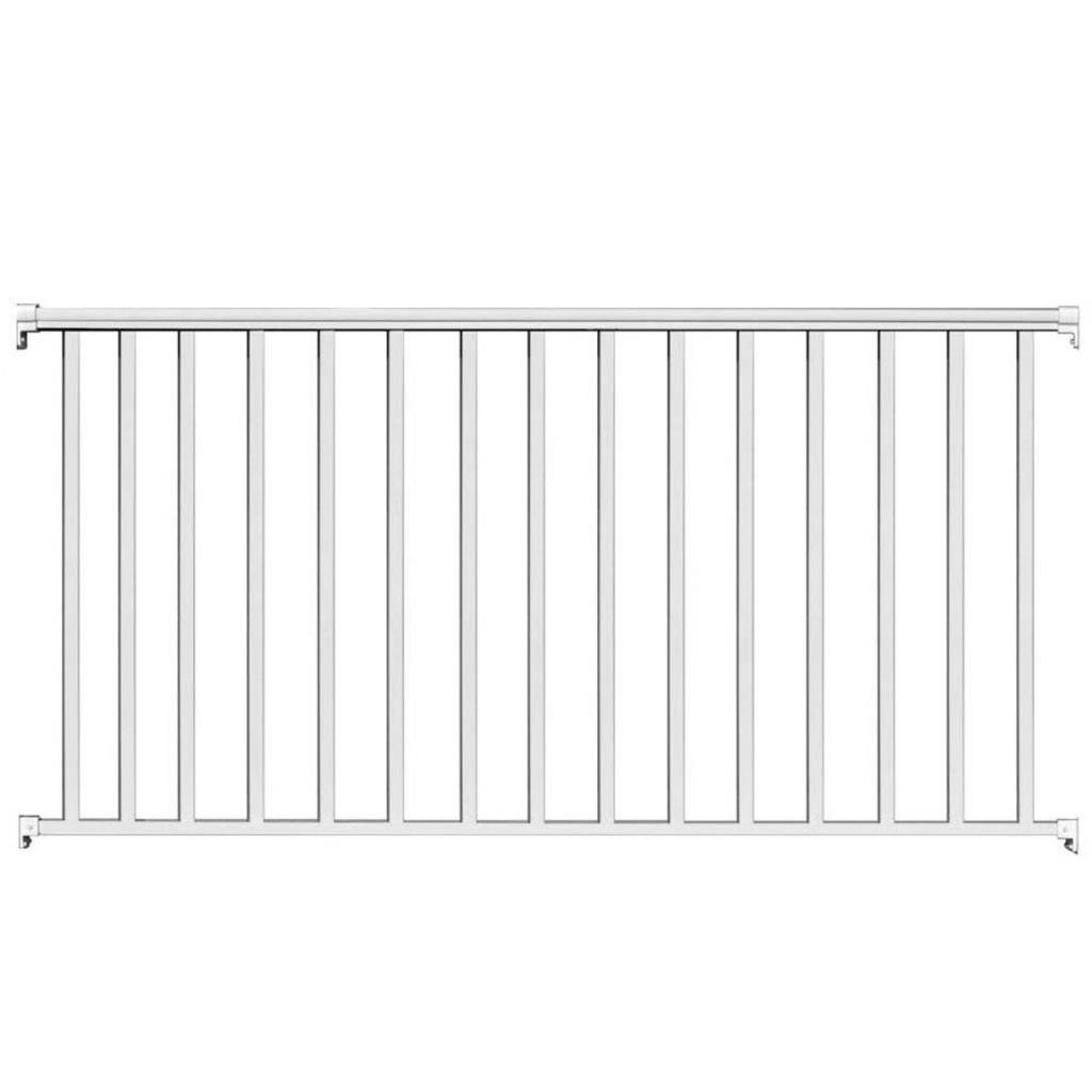 Contractor Deck Railing 6ft x 42in Aluminum Commercial Railing - White by Contractor Handrail Deck Railing