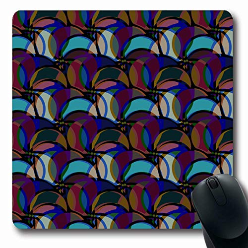 Ahawoso Mousepads Oblong Shape 7 9 x 9 5 Inches Hobby Apk Abstract Color  New Excellent Blend Canvas Cells Clean Colored Non-Slip Gaming Mouse Pad
