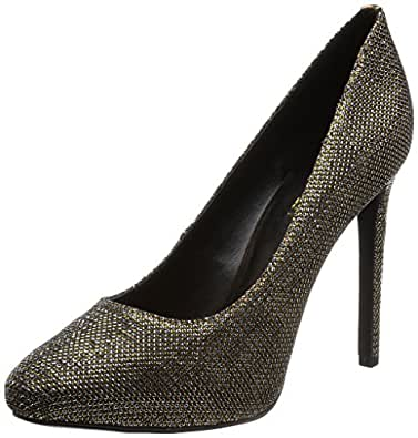 Nine West Women's Nixit Platform Pump,Gold/Multi,8.5 M US