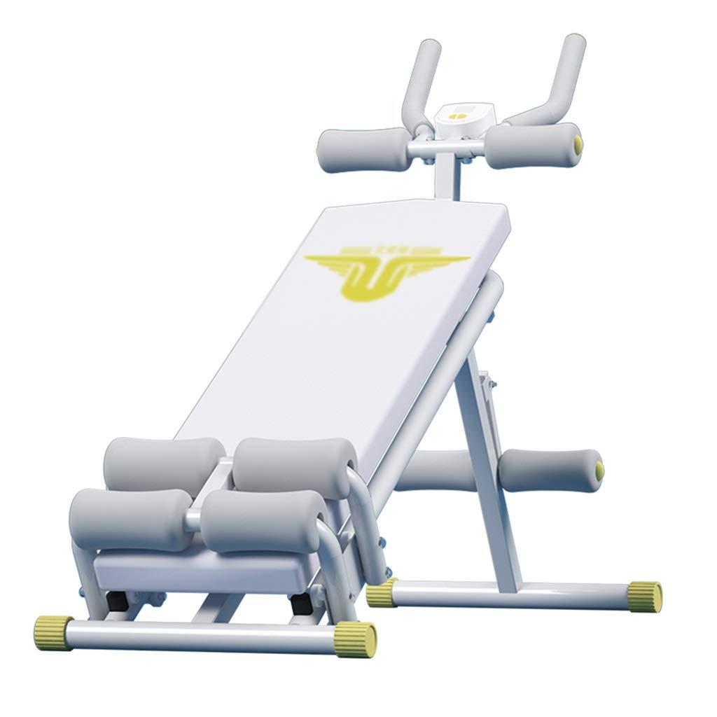 Scheibenständer Sit-ups Bauch Rudergerät Bauchausrüstung Multifunktions-Heimfitnessgeräte Taillentraining (Farbe : Weiß, Größe : 40  75  145cm)
