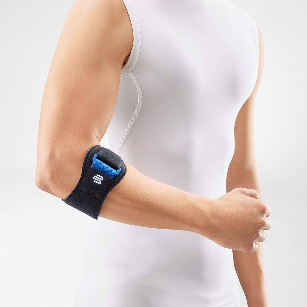 Bauerfeind - EpiPoint - Elbow Strap - Stabilizing Supports for Elbow Pain, Swelling and Injury - Color Black