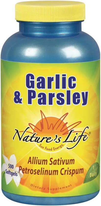 Nature's Life Garlic & Parsley Softgels, 500 Count